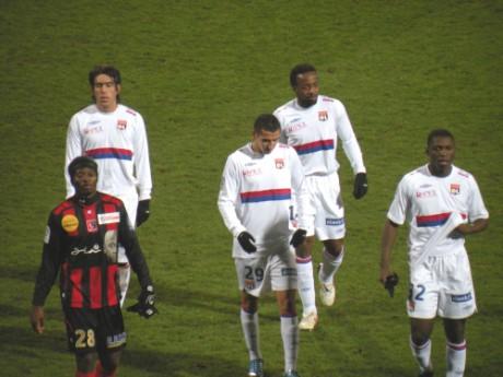 Cesar Delgado (à gauche), sous le maillot de l'OL - Lyonmag.com