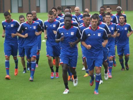 Le groupe de l'OL, de retour à l'entraînement, avec les nouvelles tenues 2012/2013 - Photo Lyonmag.com