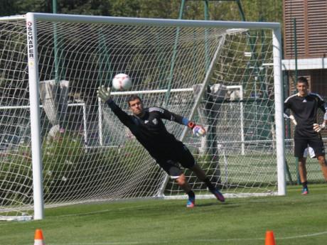 Rémy Vercoutre à l'entrainement. Photo LyonMag.com