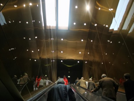 Les voyageurs emprunteront bientôt cet escalator à Oullins - LyonMag