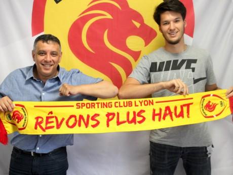 Mohamed Tria, président du SC Lyon, et Pierre Popp- Thomas Hernu/Sporting Club de Lyon