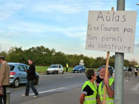 Les anti OL Land lors d'une précédente manifestation - LyonMag