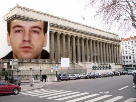 Le Palais de Justice de Lyon, et Toni Musulin, en médaillon - Photos DR