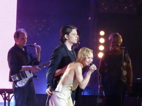 Vanessa Paradis et Benjamin Biolay après leur duo aux Nuits de Fourvière - LyonMag