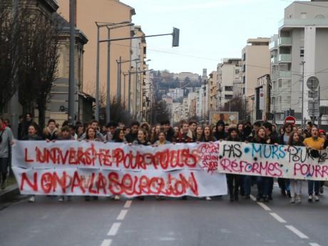 Une précédente manifestation contre Parcoursup - LyonMag
