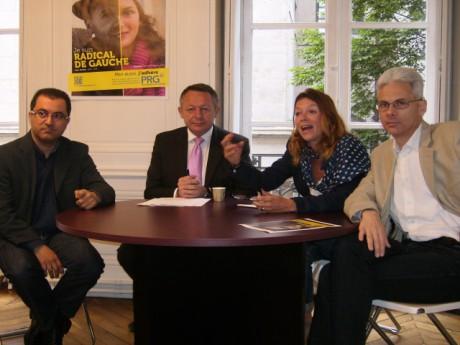 Azedine Haffar et Cédric Rousset entourent Braillard et Frih - LyonMag
