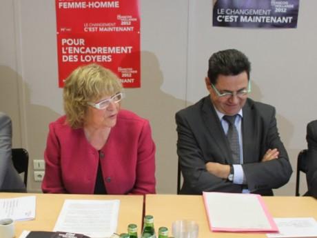 Pascale Crozon, ici avec Jean-Paul Bret - LyonMag