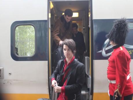 Les premiers passagers de l'Eurostar à Lyon - LyonMag