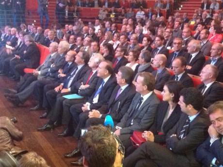 Au premier rang notamment : Grillot, Collomb, Turcas, Roubaud, Gattaz et Fontanel - LyonMag