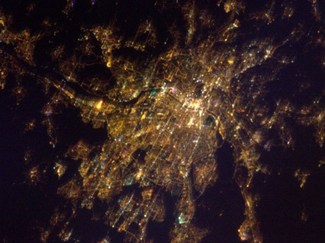 Lyon depuis l'ISS - DR