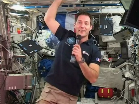 Thomas Pesquet à bord de l'ISS - DR