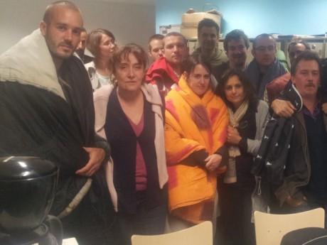 Les enseignants lors d'une nuit passée à Henri-Barbusse - DR