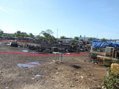 Le camp de Roms a été partiellement détruit - LyonMag