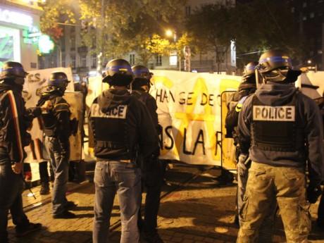 Les forces de l'ordre face aux manifestants le 6 novembre à Lyon - LyonMag