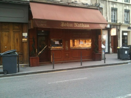 La bijouterie JohnNathah, braquée ce mardi - Photo Lyonmag.com