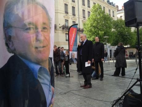 Jacques Cheminade, lors de son passage à Lyon lors de la dernière présidentielle - LyonMag