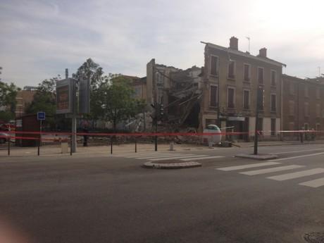 L'immeuble effondré à Tassin - LyonMag