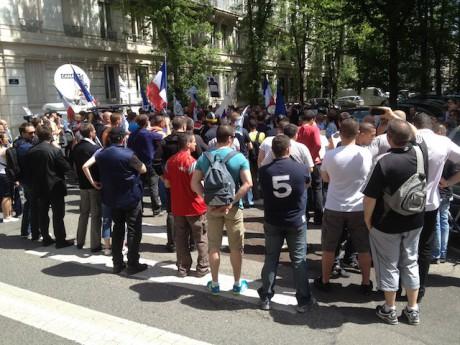 La dernière manifestation des policiers devant la préfecture du Rhône, vendredi dernier - LyonMag