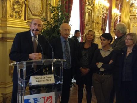 Gérard Collomb a ouvert la cérémonie par ses voeux à la presse - LyonMag