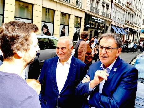 Georges Képénékian et David Kimelfeld ce samedi en Presqu'île - LyonMag