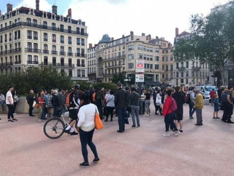 La station de métro Bellecour a notamment été évacuée - LyonMag