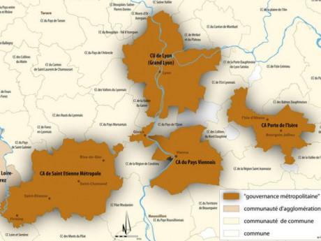 Carte Agence de l'Urbanisme de l'Agglomération Lyonnaise