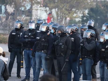 Les policiers ce samedi à Lyon - LyonMag