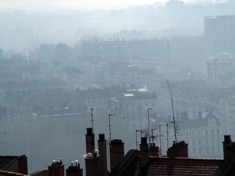 Lyon, lors d'un pic de pollution - Lyonmag.com