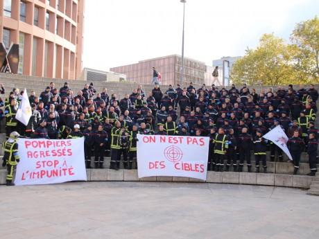 La manifestation des pompiers à Lyon au début du mois de novembre - LyonMag