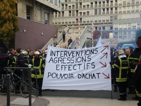 Une précédente manifestation des pompiers à Lyon - LyonMag