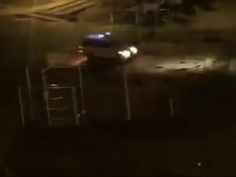 Les policiers de la BST en pleine course-poursuite - DR témoin pour LyonMag