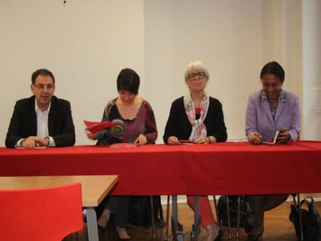 David Kimelfeld, Sylvie Guillaume, Christiane Demontès et Hélène Geoffroy - LyonMag.com