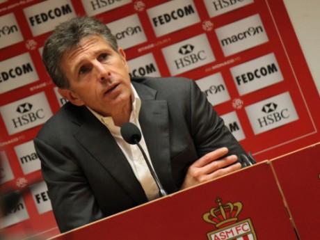Claude Puel lors de sa dernière conférence de presse en tant qu'entraîneur de l'OL, à Monaco - Photo LyonMag