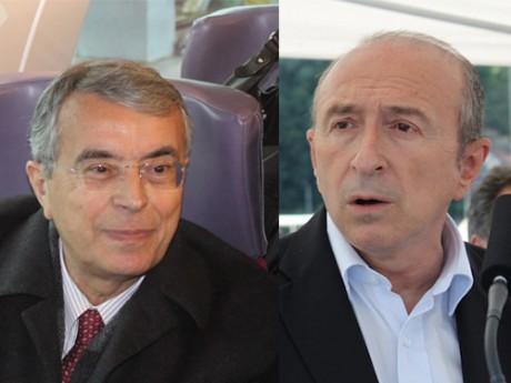 Jean-Jack Queyranne et Gérard Collomb - Montage LyonMag