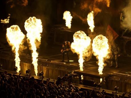 Rammstein en concert - photo DR