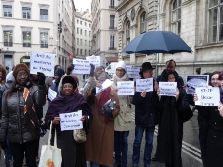 Le rassemblement demandant l'arrêt des massacres commis par Boko Haram - LyonMag