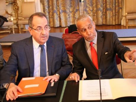 Le préfet Michel Delpuech avec Abdelkader Laïd Bendidi, président du CRCM - LyonMag