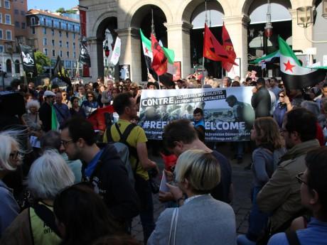 Une manifestation avait eu lieu à Lyon pour l'accueil des réfugiés syriens - LyonMag.com