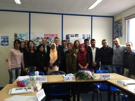 Dans un centre de formation linguistique - LyonMag