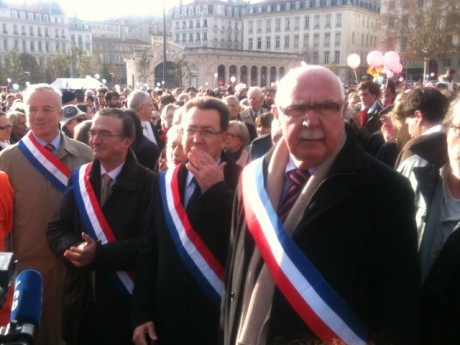 Jacques Remiller (à droite) ici aux côtés d'Hervé Mariton et Philippe Cochet - LyonMag