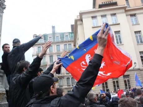 Des identitaires dans le Vieux-Lyon - LyonMag