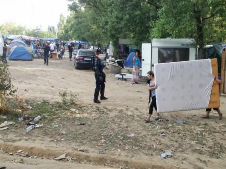 Ledit campement, lors d'une précédente évacuation - LyonMag
