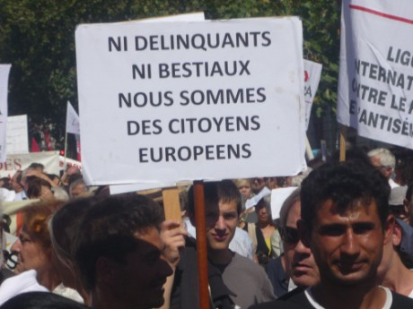 Manifestation de Roms. Photo LyonMag.com