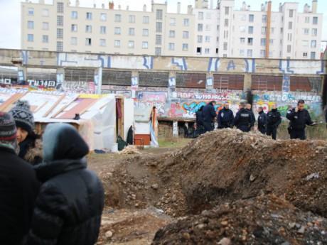 Le démantèlement du camp ce mercredi matin - LyonMag