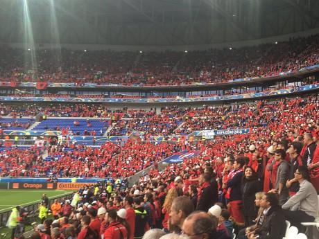 Les supporters albanais au Parc OL - Lyonmag.com