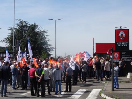 Les salariés de Renault Trucks, le 11 mai dernier - LyonMag.com
