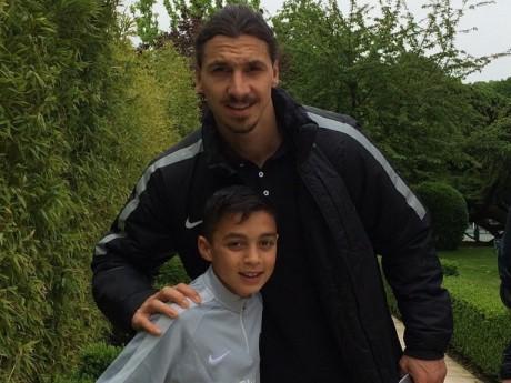 Kaïs Ruiz avec Zlatan Ibrahimovic - Capture d'écran Instagram