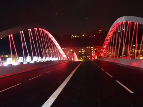 Le pont lors de son inauguration - LyonMag