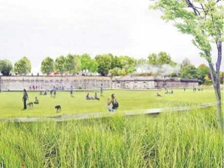 Le futur Parc Blandan - Photo Projet BASE paysagistes