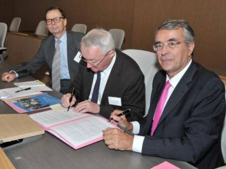 Jean-Jack Queyranne et Jean Jacques Martin, Président de Rhône-Alpes Initiative - Photo région Rhône-Alpes